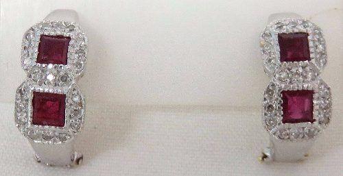 Brincos De Ouro Branco 18k750 Diamantes B277