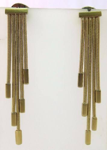 Brincos De Ouro 18k750 Grife Hstern B339