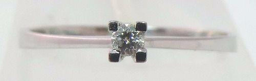 Solitário De Ouro Branco 18k750 Diamante 876