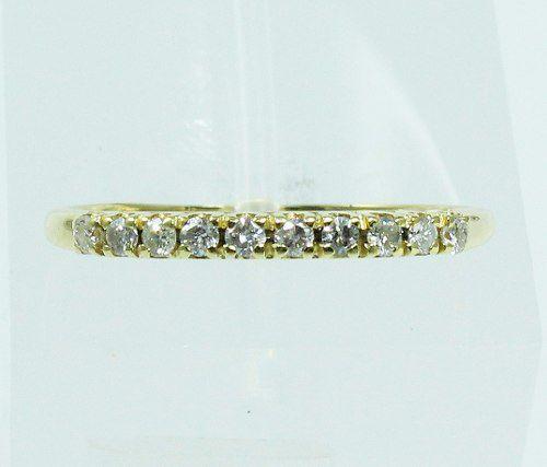 Meia Aliança De Ouro 18k750 Diamante 823