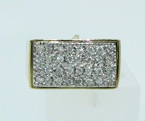 Anel De Ouro 18k750 Diamantes 759