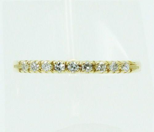 Meia Aliança De Ouro 18k750 Diamantes 826