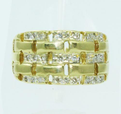 Anel De Ouro 18k750 Diamantes 2469