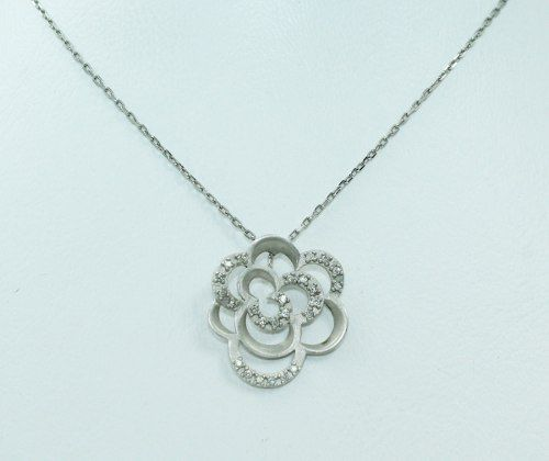 Colar De Ouro 18k750 Vivara Diamantes Flor C327