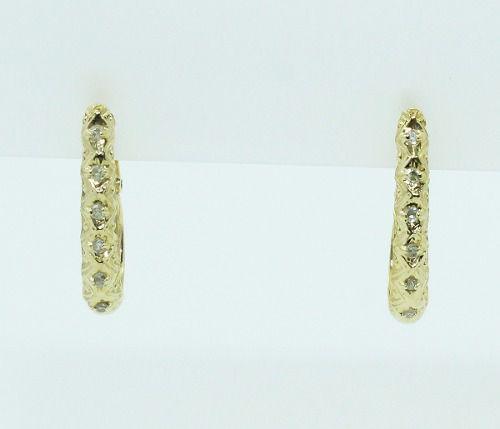 Brincos De Ouro 18k750 Diamantes B810b