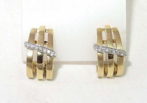 Brincos De Ouro 18k750 Diamantes B265