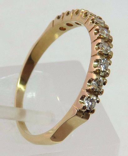Meia Aliança De Ouro 18k750 Diamantes 851