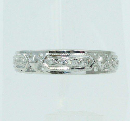 Anel De Ouro Branco 18k750 Diamantes 2473