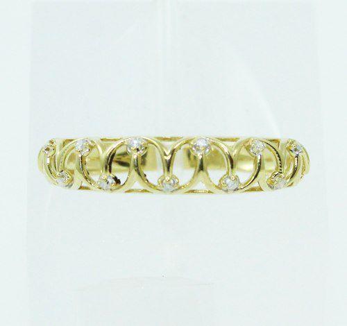 Anel De Ouro 18k750 Diamantes 2476