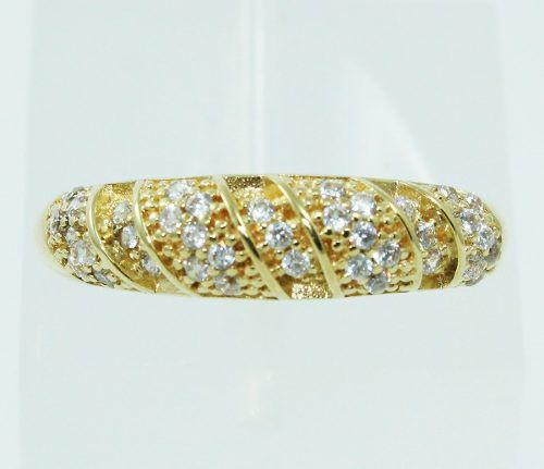 Anel De Ouro 18k750 Diamantes 2479