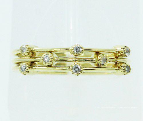 Anel De Ouro 18k750 Diamantes 2480