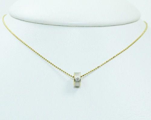 Colar De Ouro 18k750 Diamantes C328