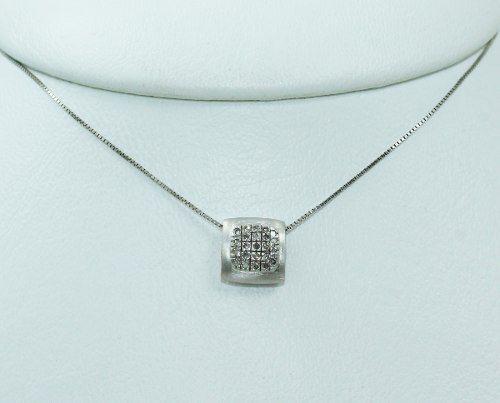 Colar De Ouro Branco 18k750 Vivara Diamantes C329