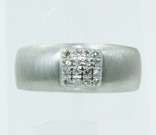 Anel De Ouro Branco 18k750 Diamantes Vivara 2483