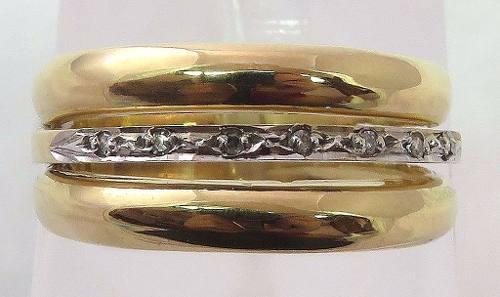 Anel De Ouro 18k750 Diamantes 556