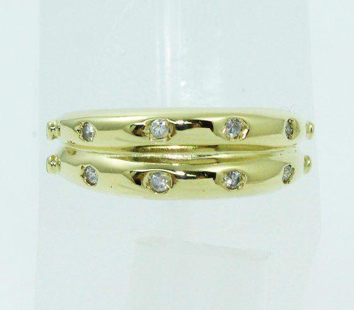 Anel De Ouro 18k750 Diamantes 354