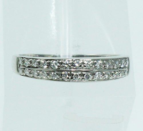 Anel De Ouro Branco 18k750 Diamantes 377