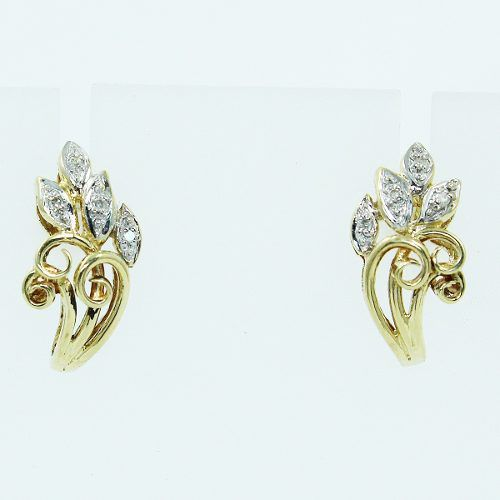 Brinco De Ouro 18k750 Diamantes B872