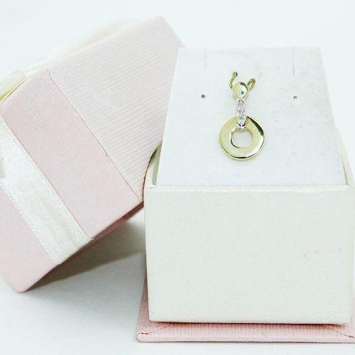 Pingente De Ouro 18k750 Diamantes P700