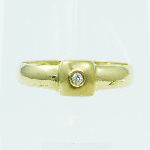 Anel De Ouro 18k750 Diamante 2488