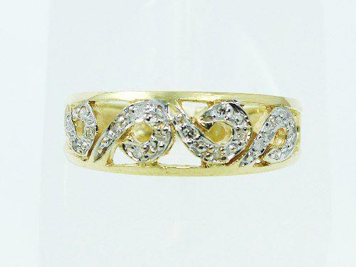 Anel De Ouro 18k750 Diamantes 2491