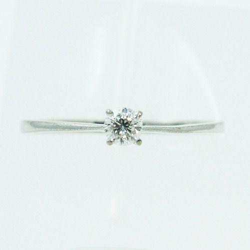Anel De Ouro Branco 18k750 Diamante 2484