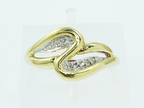 Anel De Ouro 18k750 Diamantes 2492