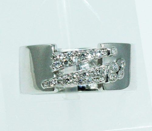 Anel Ouro Branco 18k750 Diamante Grife Vivara 645