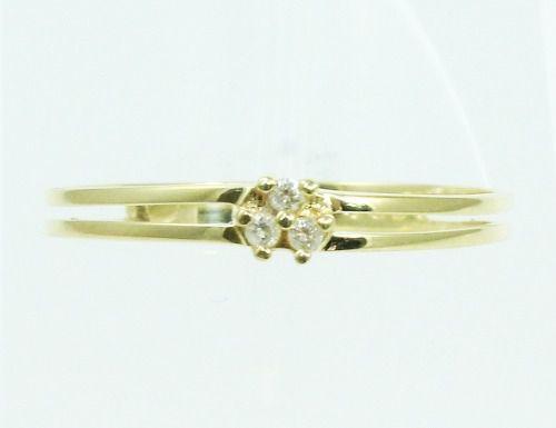 Anel De Ouro 18k750 Diamantes 34