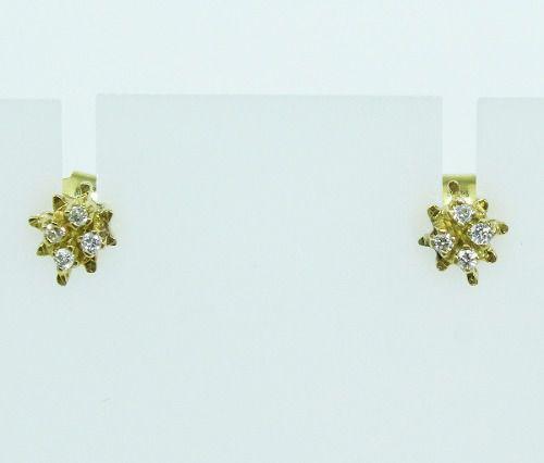 Brincos De Ouro 18k750 Diamantes B106