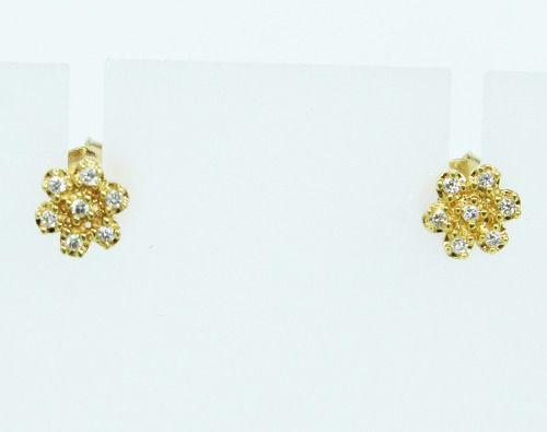 Brincos De Ouro 18k750 Diamantes B75