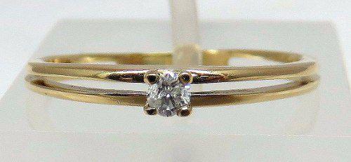 Solitário De Ouro 18k750 Diamante 877