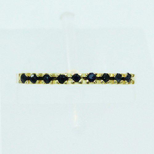 Anel De Ouro 18k750 Safiras Azul 2485