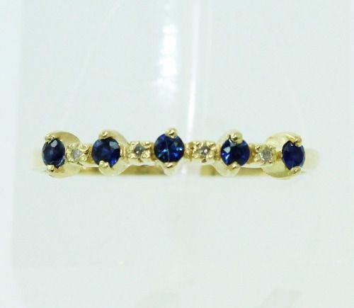 Anel De Ouro 18k750 Diamantes E Safiras 115