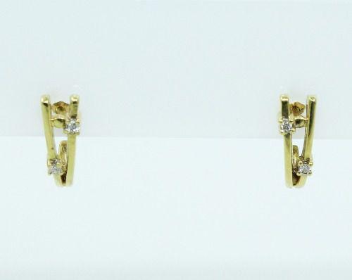 Brincos De Ouro 18k750 Diamantes B69