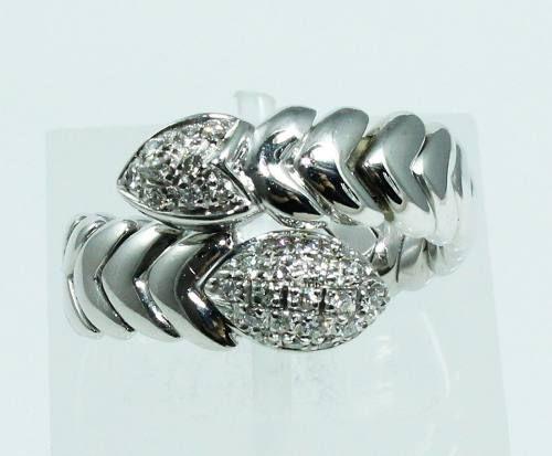 Anel De Ouro 18k750 Diamantes Grife Hstern 761
