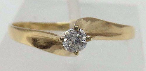 Anel De Ouro 18k750 Soiitário Diamante 158