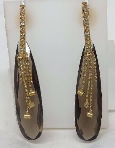 Brincos Ouro 18k750 Grife Vivara Diamantes B334