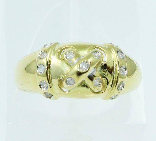 Anel De Ouro 18k750 Diamantes 2184