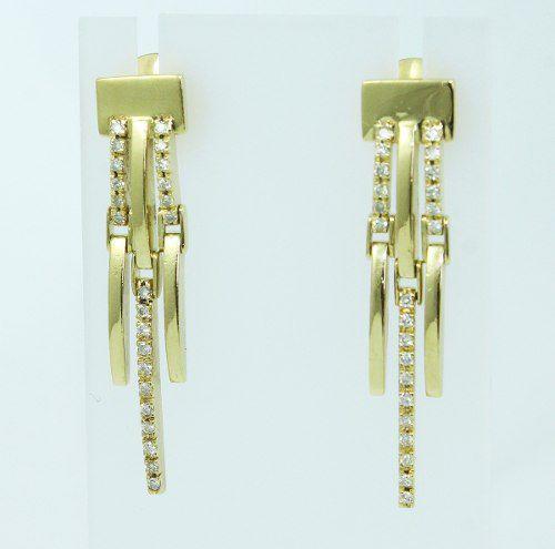 Brincos De Ouro 18k750 Diamantes B801