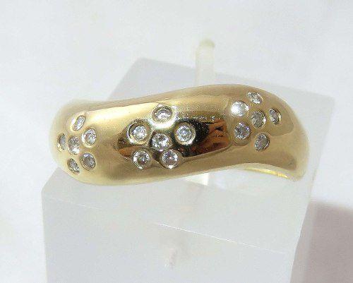 Anel Ouro 18k750 Diamantes Lindos! 161