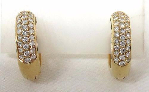 Brincos De Ouro 18k750 Diamantes B410