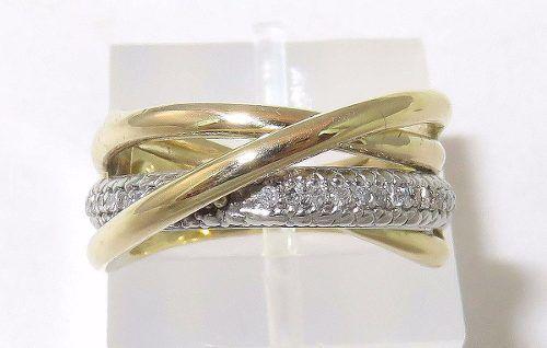 Anel Ouro 18k750 Pave Diamantes Grife Vivara 750