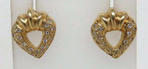 Brincos De Ouro 18k750 Diamantes B235