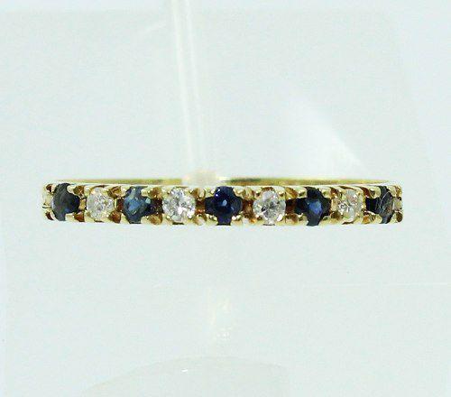 Anel De Ouro 18k750 Diamantes E Safiras Azuis 54