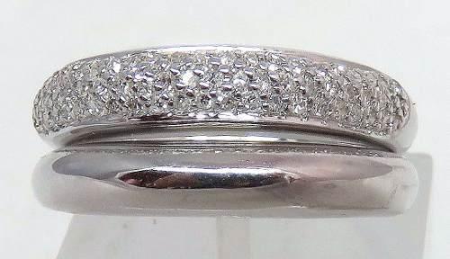 Anel De Ouro Branco 18k750 Diamantes 800