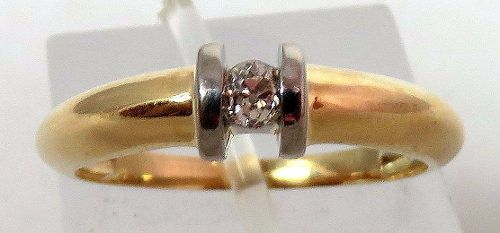 Anel De Ouro 18k750 Diamantes 393