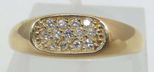 Anel De Ouro 18k750 Diamantes 421