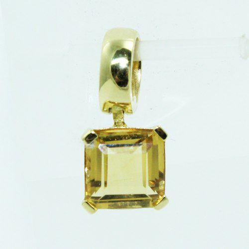 Pingente De Ouro 18k750 Citrino P705