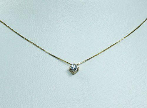 Colar De Ouro 18k75 Diamante C273